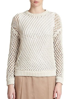 Brunello Cucinelli Tubular Open-Knit Pullover