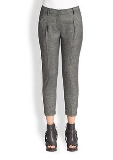 Brunello Cucinelli Tweed Pleat-Front Pants
