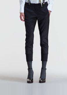 Brunello Cucinelli Two-Tone Cigarette Pants