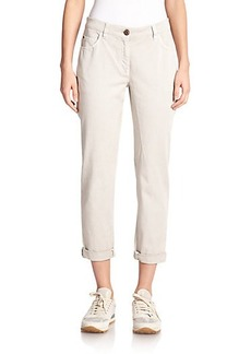 Brunello Cucinelli Washed Cotton Trousers