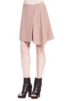 Brunello Cucinelli Wool Crepe Swing Skirt