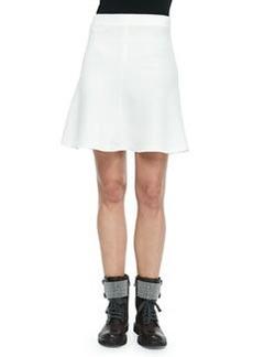 Brunello Cucinelli Wool Crepe Trumpet Skirt