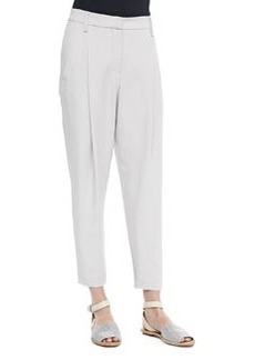 Cropped Pants with Zip Hem   Cropped Pants with Zip Hem