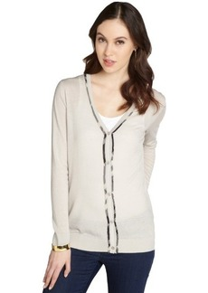 Burberry beige wool-cashmere blend button down long sleeve cardigan