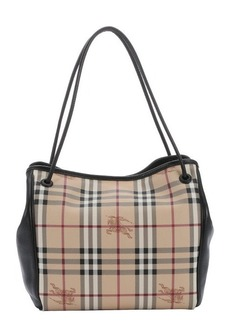 Burberry black and honey haymarket coated canvas knots 'Canterbury' small tote