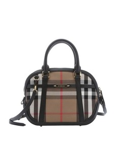 Burberry black and khaki house check canvas small 'Orchard' satchel