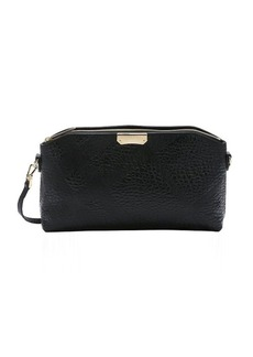 Burberry black check embossed calfskin small 'Chichester' convertible shoulder bag