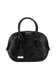 Burberry black check leather 'Orchard' small bowling bag