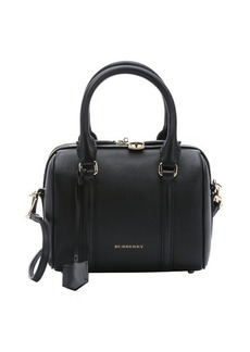 Burberry black leather 'Alchester' small convertible bowling bag