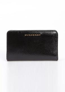 Burberry black leather card holder