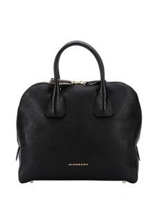 Burberry black leather 'Greenwood' medium bowling bag