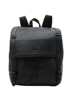 Burberry black leather 'Kenwood' drawstring backpack