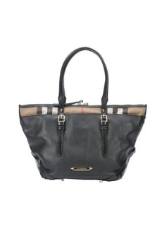 Burberry black leather 'Salisbury' check trim small bag