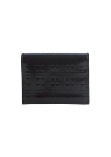 Burberry black patent leather card case