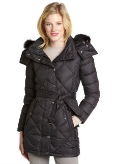 Burberry black quilted down filled hooded coat