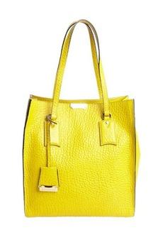 Burberry bright straw yellow leather 'Woodbury' medium tote