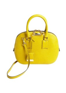 Burberry bright yellow leather vintage small 'Orchard' bowling bag