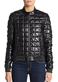 Burberry Brit Boblington Leather Quilted Jacket
