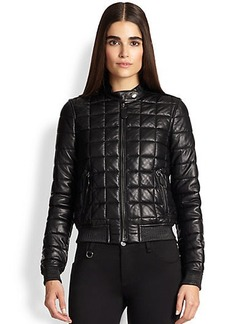 Burberry Brit Boblington Quilted Leather Bomber