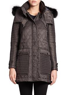 Burberry Brit Bosworth Fur-Trim Quilted Anorak