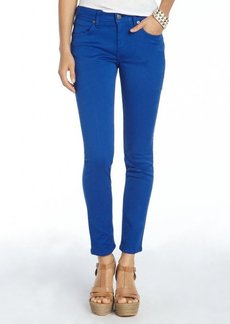 Burberry Brit bright cobalt stretch cotton 'Foxton' skinny pants
