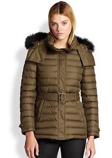 Burberry Brit Cornsdale Fur-Trimmed Jacket