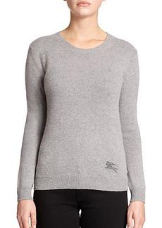Burberry Brit Cotton & Cashmere Logo Sweater