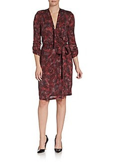 Burberry Brit Dahlia Printed Wrap Dress