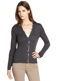 Burberry Brit dark grey melange merino wool cardigan