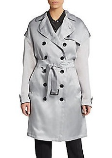 Burberry Brit Dillingford Silk Trenchcoat