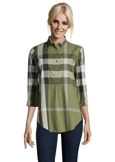 Burberry Brit green nova check print cotton 'Mal' tunic