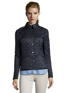 Burberry Brit ink quilted nylon 'Kencott' snap front jacket