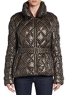 Burberry Brit Jackston Printed Quilted Puffer Jacket