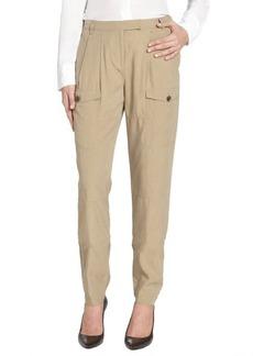 Burberry Brit khaki chino 'Plumstead' silk blend slouchy pants