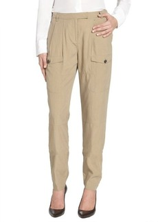 Burberry Brit khaki chino 'Plumstead' silk blend slouchy pants