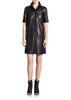 Burberry Brit Leather Araminta Shift Dress