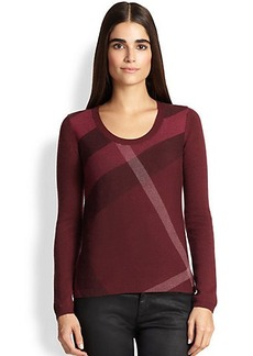 Burberry Brit Merino Wool & Cashmere Check Sweater