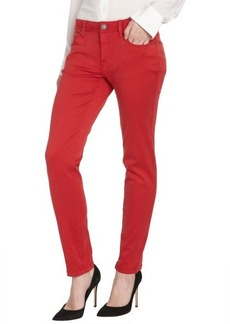 Burberry Brit military red stretch cotton 'Foxton' skinny pants