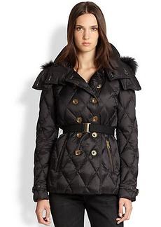 Burberry Brit Natesdale Fur-Trim Puffer Coat