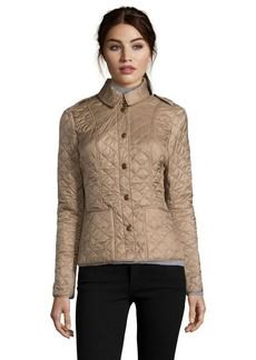 Burberry Brit pale fawn quilted nylon 'Kencott' jacket