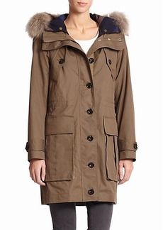 Burberry Brit Sebmoore Fur-Trim Two-In-One Parka