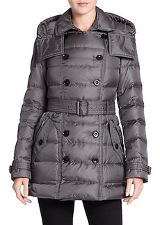 Burberry Brit Shredale Belted Puffer Coat