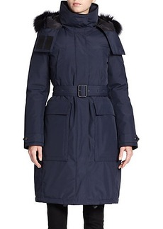 Burberry Brit Stateford Fur-Trim Puffer Coat
