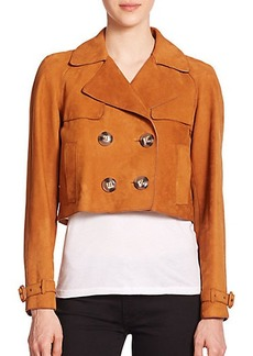 Burberry Brit Thurleigh Cropped Leather Jacket