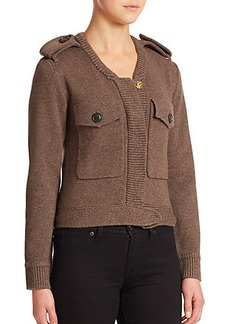 Burberry Brit Wool & Cashmere Bomber Sweater