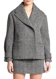 Burberry Brit Wool Herringbone Jacket