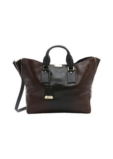 Burberry brown and black pebbled calfskin large 'Callaghan' tote