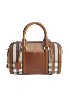Burberry brown canvas 'Alchester' convertible tote