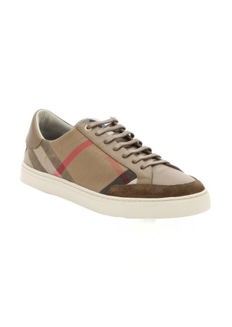 burberry burberry brown house check canvas and leather