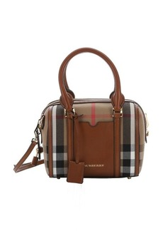 Burberry brown house check canvas small 'Alchester' convertible bowling bag
